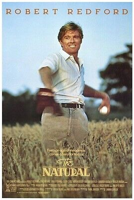 THE NATURAL ~ FIELD 27x40 MOVIE POSTER Robert Redford Baseball NEW/ROLLED!