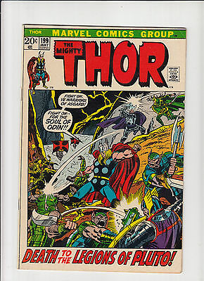 Thor #199 'Death to the Legions of Pluto!'  Buscema art VF