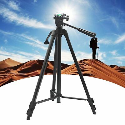 Professional Travel Tripod Stand W/ Pan Head For Digital Camera DSLR Camcorder