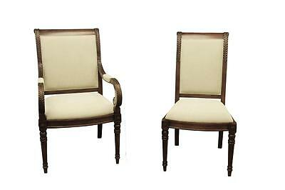 NEW FRENCH STYLE Upholstered Dining Room Arm Chairs ~Stain ...