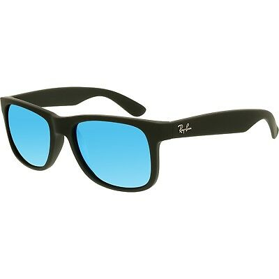 Ray-Ban Justin Color Mix Rubber Black l Blue Mirror RB4165 622/55 55mm