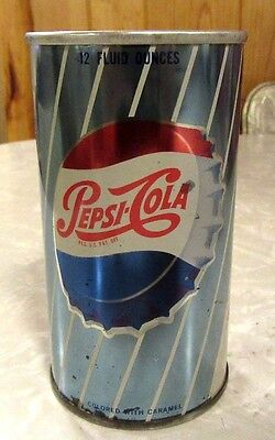 1967 Straight Steel Pepsi Cola Soda Pull Tab Pop Can Top Open