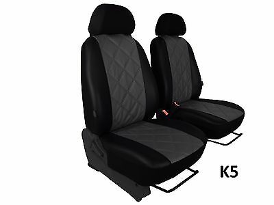 Eco Leather Embossed Tailored Seat Covers For Vauxhall Vivaro 1+1 2001-2014