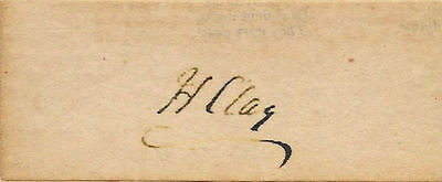 Henry Clay Autograph Reprint On Genuine Original Period 1820s Paper