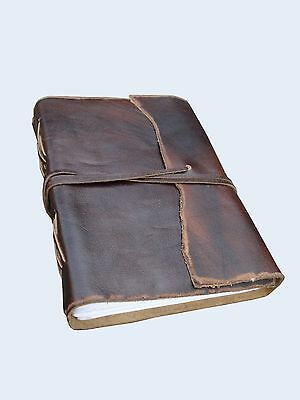 Antique Dark Brown Leather Journal Diary (Handmade)-Leather Coptic Bound 20% off
