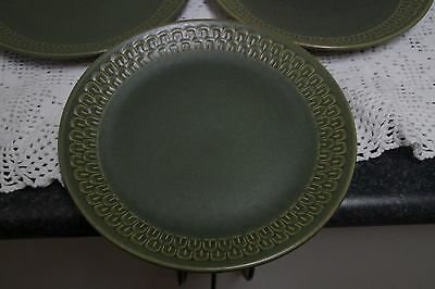 Retro Midcentury WEDGWOOD stoneware Cambrian Green  Pennine Entree / Salad Plate