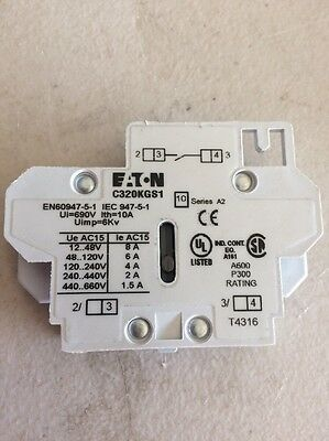 EATON Part #C320KGS1, Normally Open Auxiliary Contact, Freedom Series, Series A2