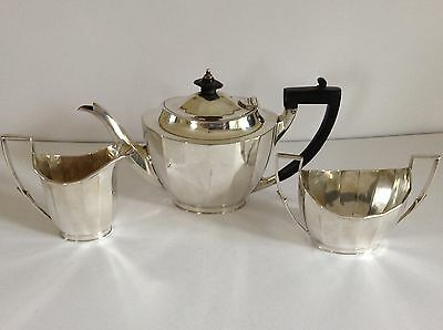 Vintage 3 Piece Silver Plate Tea Set - Mappin & Webb - Sheffield - London