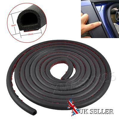 4M Small D-Type Motor Car Truck Door Rubber Hollow Strip Weatherstrip Sealing UK