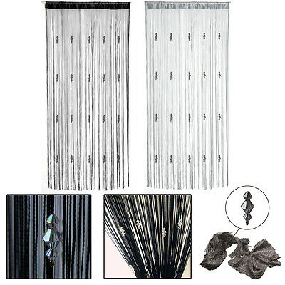 Luxury Dew Drop Beaded String Door Window Curtain Divider Room Blind Tassel Fly