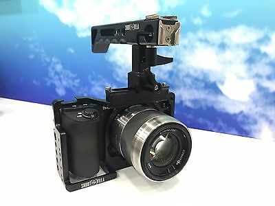 Shootvilla Camera Cage for Sony Alpha A6500 with Top Handle