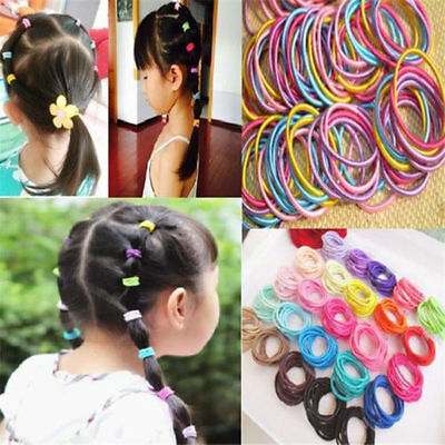 100Pcs/Lot Baby Kids Girl Elastic Hair Bands Ponytail Holder Head Rope Hair Ties