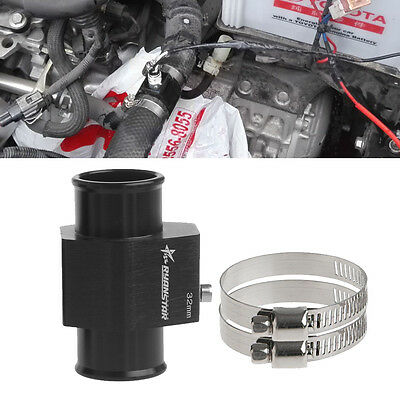 32mm Water Temp Temperature Joint Pipe Sensor Gauge Radiator Hose Adapter