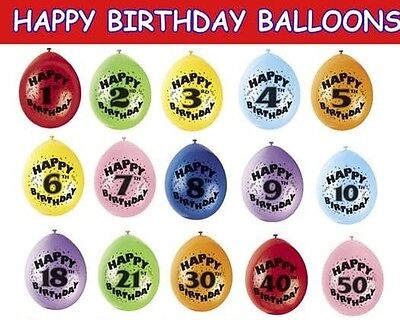 12 Inches Happy Birthday Printed Balloons for birthday party pack of 6