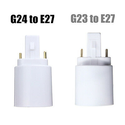 G23/G24 To E27 Base Socket Edison Bombilla LED Halogen Light Adaptador Conversor