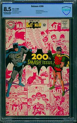 Batman # 200  Smash Anniversary Issue - Neal Adams  !  CBCS 8.5 scarce book !