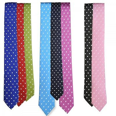 Boys Slim Polka Dot Ties, Boys Ties, Kids Tie