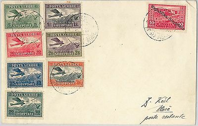 62410 - ALBANIA - POSTAL HISTORY - 1st AIRMAIL SET on COVER  01.06.1925