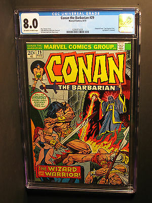 Conan the Barbarian  #29  CGC 8.0  (8/73)  Gil Kane/Ernie Chan Cover! NO RESERVE