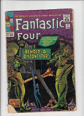 Fantastic Four #37 'Behold! A Distant Star!'  Lee/Kirby Good