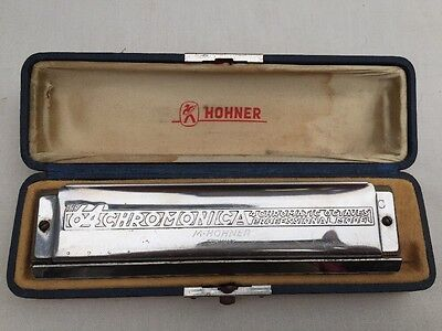 VINTAGE THE 64 HOHNER CHROMONICA 64 PROFESSIONAL Model 280 HARMONICA with Case