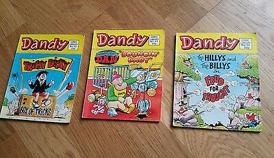 3 X Dandy Comic Library Books (1983 - 1985) issues 10 17 52