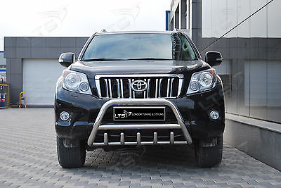 Toyota Land Cruiser Prado Axle Nudge A-Bar Stainless Steel Bull Bar 2010 Onwards