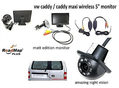 volkswagen caddy Wireless Rear reversing camera kit number plate