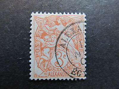A4P6 France Offices in Egypt Alexandria 1902-13 3c used #5