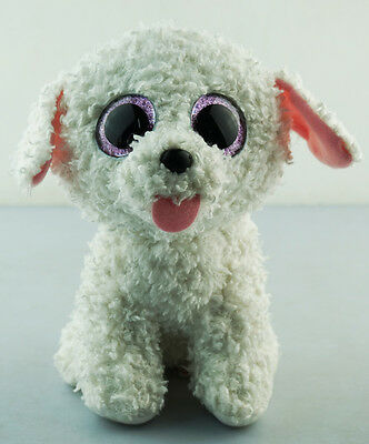 """6/"""" TY Beanie Boo Multicolr the Poodle Dog Glitter Eyes No Tag Plush Stuffed Toys"""
