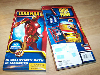 Box of 16 Marvel Avengers Iron Man Valentine's Day Cards w Magnets New