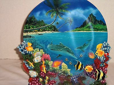The Hamilton Collection Dolphin's Paradise Plate Anthony Jones Colors Of The Sea