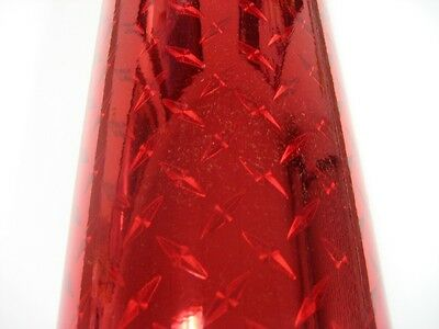 Cherry Red Diamond Plate Sign Plotter Cutter Vinyl Roll