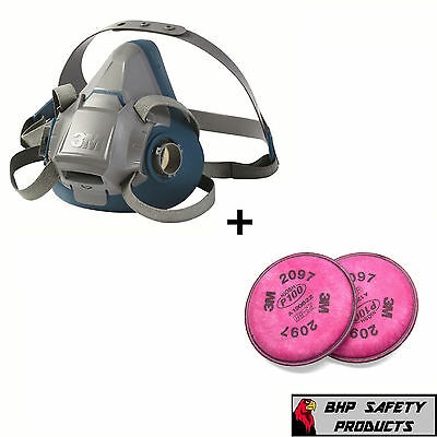3M 6500 Series Half Mask Respirator With 1 Pair Of 2097 P100 Filters (S, M, & L)