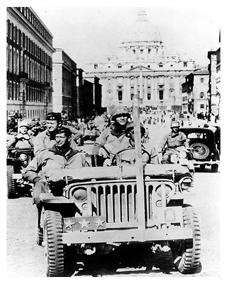 1941 to 1945 Wartime Jeep ORIGINAL Factory Photo General Mark Clark ouc6922