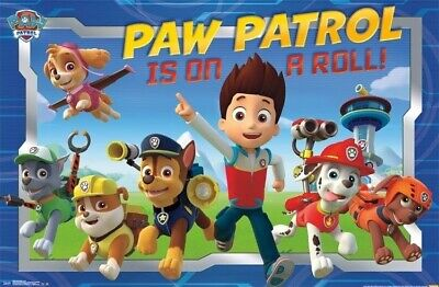 PAW PATROL POSTER ~ IS ON A ROLL 22x34 Cartoon Nickelodeon Dog Dogs Puppies