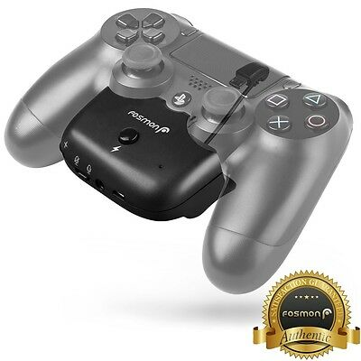 Fosmon PS4 Dualshock 4 Controller Audio Adapter 2000mAh Extended Battery Pack