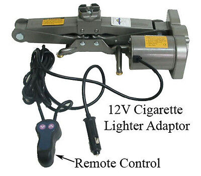 1 Ton ELECTRIC SCISSOR 12V Cigarette Adapter Auto Car Jack Lift - 2000 lbs