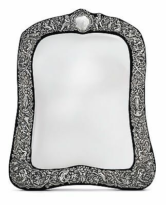 Victorian Sterling Silver Table Mirror by William Comyns, London, 1890