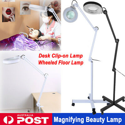 5X Magnifier Lamp Magnifying Light Beauty Salon SPA Rolling Floor/ Desk Clamp