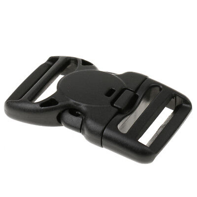 Plastic Side Release Buckle Clip for 38mm Backpack Bag Webbing Strap