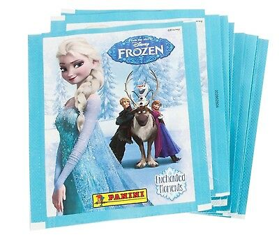 Disney Frozen Enchanted Moments Album Stickers lot 10 Sealed Packs, 70 Stickers