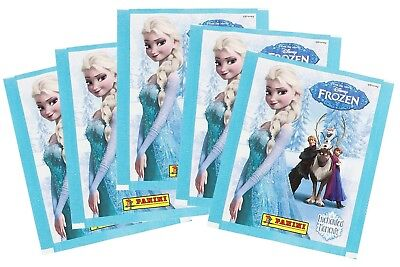 Disney Frozen Enchanted Moments Album Stickers lot 5 Sealed Packs, 35 Stickers
