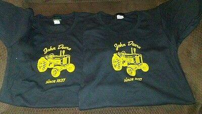 2 john deere youth girls shirts large