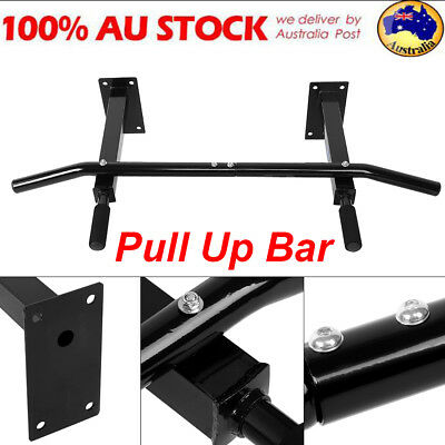 Wall Mounted Chin Up Pull Up Bar Exercise Power Training Gymnastic Suspension AU