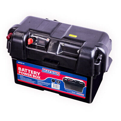 Matson Power Battery Box Agm Deep Cycle  Dual System 12V Usb Isolator 130Ah