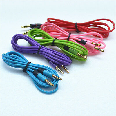 Color 3.5mm Male to Male Car Stereo MP3 Audio AUX Cable Cord For iPhone Android