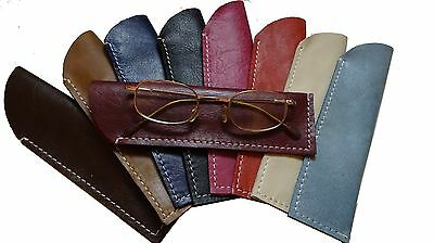 Real Leather Glasses Case Reading, Spectacles,pouch eyecare, genuine, LOTHS UK
