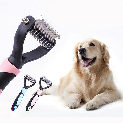 Pet Dog Hair Comb Brush Grooming Brush Rake Stainless Comb for Long Hair Dog
