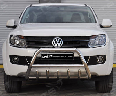 Vw Amarok Chrome Axle Nudge A-Bar, Stainless Steel Bull Bar 2010-2015